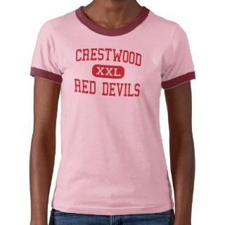 Crestwood   Red Devils   Middle   Mantua Ohio Tshirts