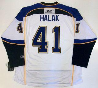 Jaroslav Halak St Louis Blues Jersey Real RBK White