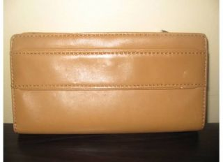 New Michael Kors Jamesport Peanut Leather Wallet