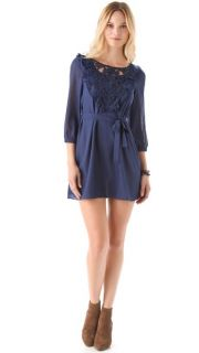 Tbags Los Angeles Embroidered Panel Dress