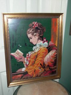Jean Honore Fragonard A Young Girl Reading Needlepoint