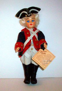 Carlson Dolls 7 1 2 Tall Revolutionary War American Soldier Doll