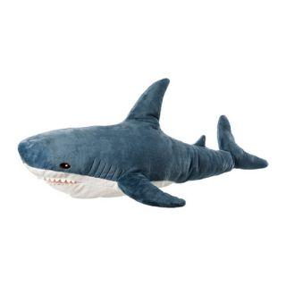 Velvety grey gray Shark Plush Stuffed Animal Soft Toy 39 NEW Jaws