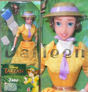 Disney Jane Doll from Tarzan Barbie Type 11 5 Doll in Yellow with