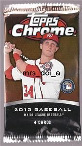 2012 Topps Chrome Dynamic Die Cuts Refractor Hot Pack Auto Harper