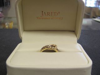 Jared 14k Levian yellow gold LE VIAN White & Chocolate Diamond buckle
