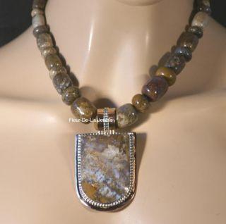 Jay King Mine Finds Saginite Copper Sterling Silver Pendant Necklace