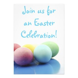 Happy Easter Decorated Eggs Party Invitations