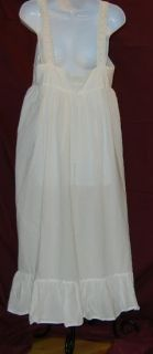 Victoria Secret White Baby Doll Lingerie Nightgown MIDI Tank Shirt