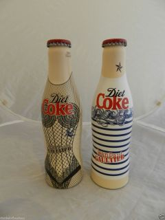 Jean Paul Gaultier Diet Coke 2 Aluminium Coca Cola Bottles UK Coke