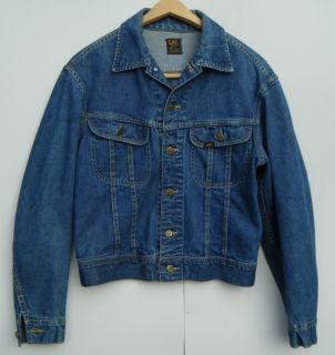 Vintage 1960s Lee 101 J Denim Jean Jacket Mens 40 M Excellent