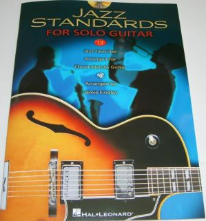Jazz Standards Solo Guitar Book CD Chord Melody Songs
