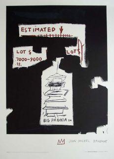 Jean Michel Basquiat Big Pagoda Lithograph