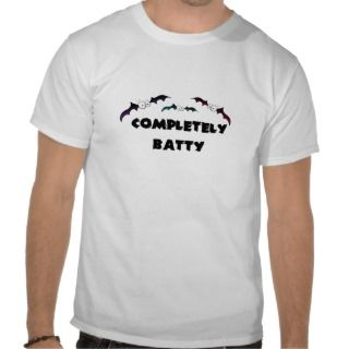 Completely Batty halloween bats Tee Shirts