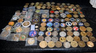 Collection of 120 Military Challenge Coins