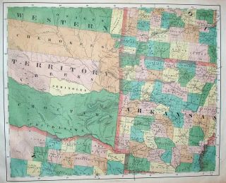 1851 John Calvin Smith United States 16 Folio Map Sheets Forming Giant