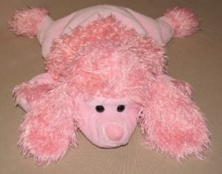 15 Jay at Play Microbead Pink French Poodle Puppy Dog Plush Pillow