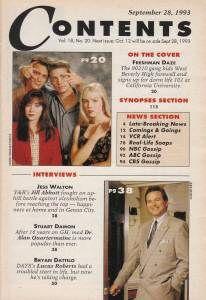 Soap Opera Digest September 28 1993 Jess Walton Stuart Damon Bryan
