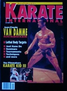 10 89 KARATE INTERNATIONAL JEAN CLAUDE VAN DAMME KARATE KUNG FU
