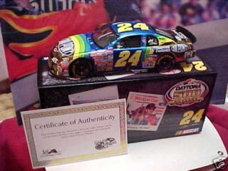 Jeff Gordon 1997 Daytona Winner Gold Chrome 1 24 Car