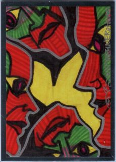 TNA Jeff Hardy Artwork 2012 Reflexxions RED Premium Foil Insert Card