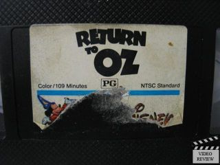 Return to oz VHS Nicol Williamson Jean Marsh Piper Laurie