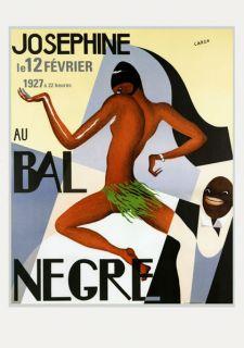 JOSEPHINE BAKER Jazz Revue Bal Negre FINE French Vintage Poster Repo