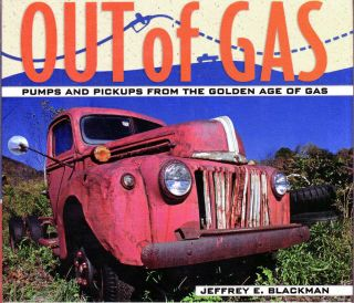 Out of Gas Old Pickup Trucks Gasoline Pumps Filling Station Golden Age