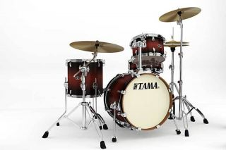 Tama Silverstar 4pc Jazz Drum Set 18 Bass Satin Cherry Burst Free