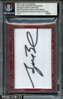 Executive Collection President George W Bush Jeb Bush AUTO BGS 1 1