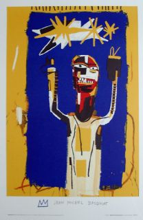 Jean Michel Basquiat Welcoming Jeers Lithograph