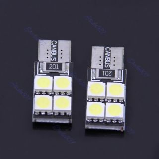 2pcs T10 4 SMD LED 5050 Car Auto Canbus Wedge Turn Signals Light Lamp