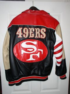 Signed Joe Montana Jeff Hamilton Leather Jacket