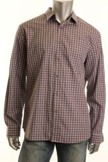 Jeremy Purple Plaid Long Sleeve Point Collar Button Down Shirt M