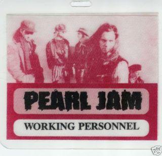 Jam Early Backstage Pass Laminate Jeff Ament Stone Gossard