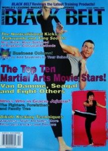 97 Black Belt Magazine Gracie Jean Claude Van Damme