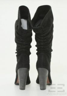 Jean Michel Cazabat Black Ruched Suede Boots Size 40