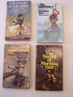 Jeff Jones Cover Paperback Book Lot Set Robert E Howard Sword Morning