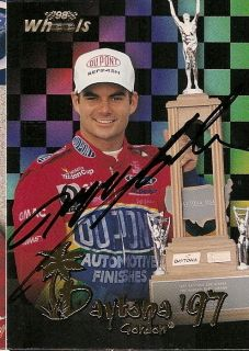 Jeff Gordon autographed BLACK 1997 DAYTONA 500 98 PP 50th ANNIVERSARY