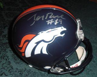 Jerry Rice Signed Replica Helmet Denver Broncos w COA