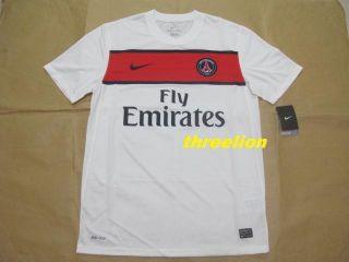 BNWT Nike 2011 13 PSG Paris Saint Germain Away s s Soccer Jersey