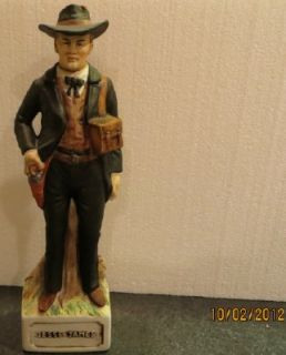 Jesse James McCormick Wild West Gunfighter Whiskey Decanter