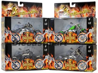 18 West Coast Choppers Jesse James Set of 4 JJ04 18 29 32 New