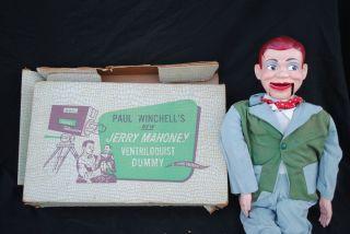 Winchells Jerry Mahoney Ventriloquist Dummy Doll w Orig Box
