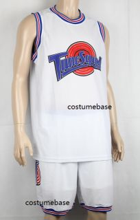 Space Jam Basketball Jersey Shorts Set 23 Tune Squad Halloween Jordan