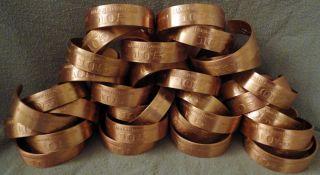 Wholesale Lot 36 Harley Davidson HD 105th Anniversary Copper Bracelets