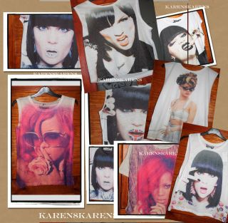 Rihanna or Jessie J T Shirt Top Festival 6 8 10 12 14 16 18 20 Primark