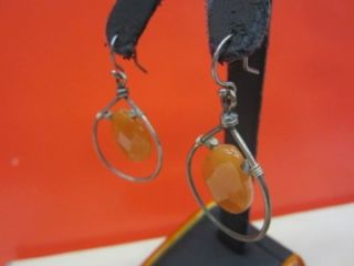 189 New Chan Luu Red Aventurine Faceted Stones Silver Framed Earrings