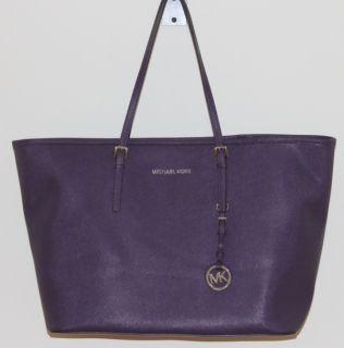 NWT Michael Kors Medium Jet Set Travel Tote Bag Purple New