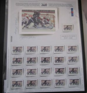 Limited Edition Numbered Winnipeg Jets NHL Hockey Stamp set of 21